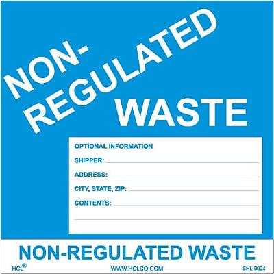 HCL Non-Regulated Waste, Waste Storage Label, 6