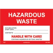 "HCL Hazardous Waste Accumulation, Waste Label 4"" x 6"" (SHL0020004625)"