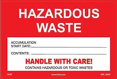 HCL Hazardous Waste Accumulation, Waste Label 4