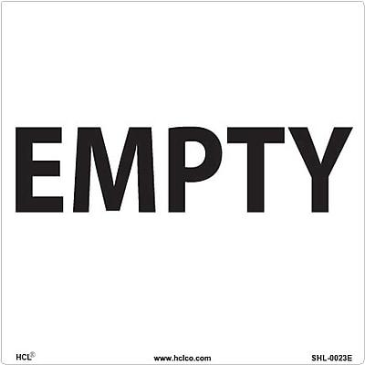 HCL Empty Label, Drum Storage (SHL0023E006625)