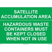 "HCL Satellite Accumulation Area, Waste Sign 10"" x 14"" (SHL00870003)"