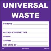 "HCL Universal Waste, Accumulation & Storage Label, 6"" x 6"" (SHL0012006625)"