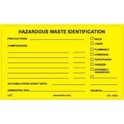 "HCL Hazardous Waste Identification, Waste Storage Label, 2"" x 3"" (SHL00030023)"