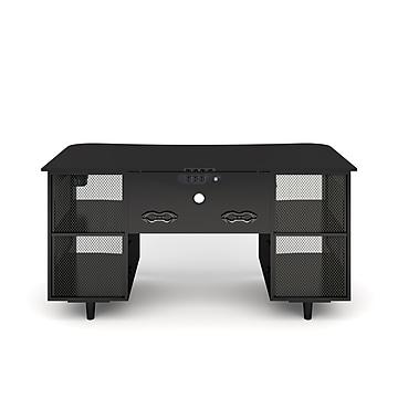 "Whalen Emergent Gaming 60"" Laminate Computer Desk, Black (SPUS-EGDB)"