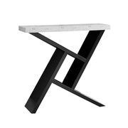 Monarch Specialties Hall Console Accent Table, Black/Gray Cement-look (I 2406)