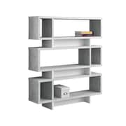 "Monarch Specialties 6-Shelf 54"" Bookcase, Gray (I 7532)"