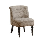 Monarch Specialties Linen and Cotton Fabric Accent Chair, Taupe (I 8171)