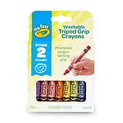 My First Crayola Washable Tripod Grip Crayons, 8/Pack (81-1460)
