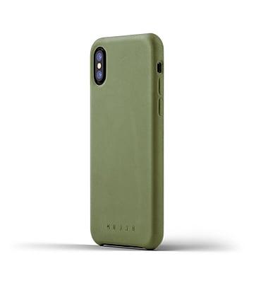 Mujjo Full Leather Case for iPhone X, Olive (MUJJO-CS-095-OL)