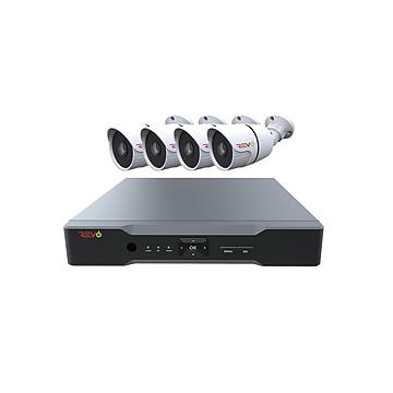 REVO America Revo Aero HD 1080p 4 Channel Video Security System with 4 Indoor/Outdoor Bullet Cameras (RAJ42B4G-1T)