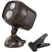 Acclaim Lighting Motion-Activated LED Spotlight with Clamp, Bronze (ACLB222BZ)