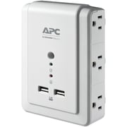 APC 6-Outlet SurgeArrest Surge Protector Wall Tap with 2 USB Ports (APNP6WU2)