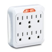 CyberPower 6-Outlet Guide-Light Wall Tap, White (CYBGT600L)