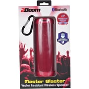 2BOOM BT660R Master Blaster Water-Resistant Bluetooth Speaker (Red)