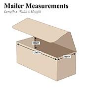 "6"" x 3"" x 2"" Corrugated Mailers, 50/Bundle (M632K)"