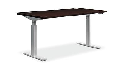 HON Coordinate Height-Adjustable Table, Mahogany Laminate, 72