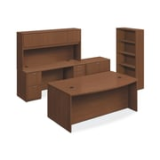"HON Foundation Office Suite with Storage, 2 Box/3 File Drawers, 72""W, Shaker Cherry Laminate NEXT2018 NEXTExpress"