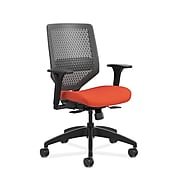HON Solve ReActiv/Fabric Mid-Back Task Chair, Adjustable Lumbar Support & Arms, Charcoal/Bittersweet (HONSVR1ACLC46T)