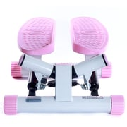 Sunny Health & Fitness P8000 Pink Adjustable Twist Stepper Step Machine w/ LCD Monitor