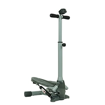 Sunny Health & Fitness SF-S0637 Twist-In Stepper Step Machine w/ Handlebar and LCD Monitor,Size: large