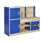 Offex Colorful Essentials 4-in-1 Play Kitchen, Blue (OF-ELR-0750-BL)
