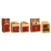 Offex Colorful Essentials 5-Piece Play Kitchen - Red (OF-ELR-17505-RD)
