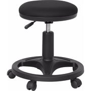Offex Black Ergonomic Stool with Foot Ring (OF-WL-905DG-GG)