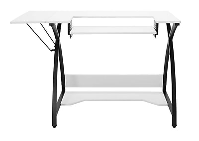 Offex Craft Room Comet Hobby Center and Sewing Table, Black/White (OF-13332)