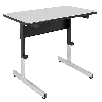 Offex Height Adjustable Utility Adapta Table, Black/Spatter Gray (OF-410381)