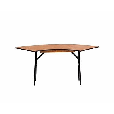 Offex 5.5 ft x 2 ft Serpentine Wood Folding Banquet Table (OF-WSFT48-24-SP)