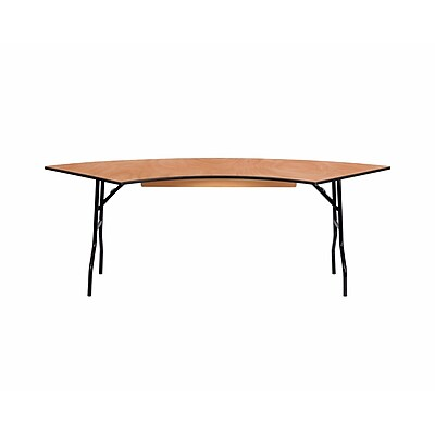 Offex 7.25 ft x 2.5 ft Serpentine Wood Folding Banquet Table (OF-WSFT60-30-SP)
