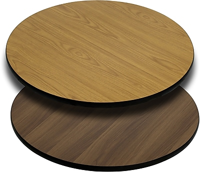 Offex 36'' Round Table Top with Natural or Walnut Reversible Laminate Top (OF-XU-RD-36-WNT)