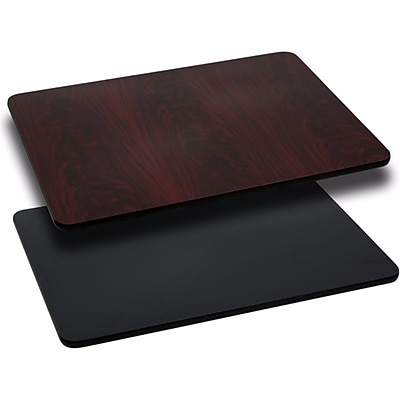 Offex 24'' x 30'' Rectangular Table Top with Black or Mahogany Reversible Laminate Top (OF-M2430-GG)