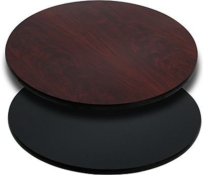 Offex 36'' Round Table Top with Black or Mahogany Reversible Laminate Top (OF-XU-RD-36-MBT)