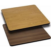 Offex 24'' Square Table Top with Natural or Walnut Reversible Laminate Top (OF-WNT-2424-GG)
