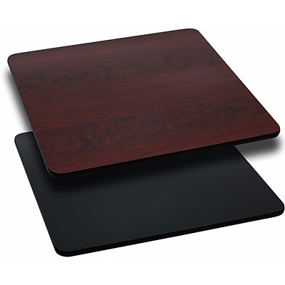 Offex 24'' Square Table Top with Black or Mahogany Reversible Laminate Top (OF-M2424-GG)