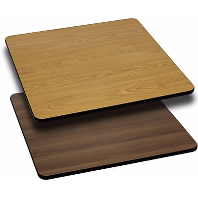 Offex 30'' Square Table Top with Natural or Walnut Reversible Laminate Top (OF-WNT-3030-GG)