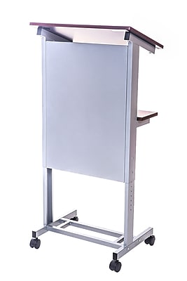 Offex Rolling Adjustable-Height Podium Lectern (OF-LX-ADJ-DW)
