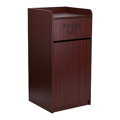 Offex Wood Tray Top Receptacle in Mahogany Finish (OF-M8520-TR-MAH)