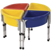 Offex 4 Station Round Sand & Water Play Table with Lids (OF-ELR-0798)