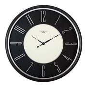 "Offex Home 29"" Modern Raised Numeral Wall Clock, Black (OF-73000)"