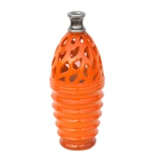 "Northlight Tangerine Orange and Gray Decorative Outdoor Patio Cutout Vase, 11.25"" (32229132)"