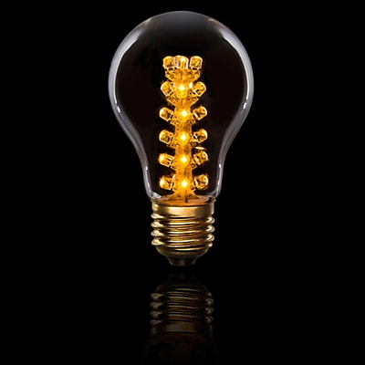 Darice Cleveland Vintage Lighting 4-Tier E26 Base LED Edison Light Bulb, 0.9 Watts (31811117)