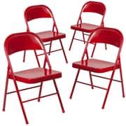 Flash Furniture Hercules Series Metal Folding Chair, 4/Pack