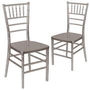 Flash Furniture Hercules Series Resin Chiavari Chair, Pewter, 2/Pack (2LEPEWTER)