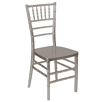 Flash Furniture HERCULES Series Resin Chiavari Chair, Pewter (LEPEWTER)