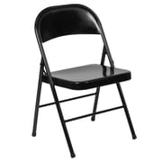 Flash Furniture HERCULES Series Metal Folding Chair, Black (BDF002BK)