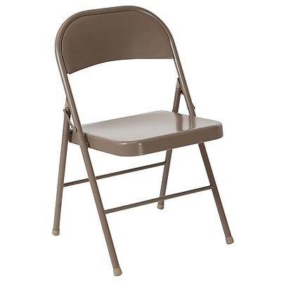 Flash Furniture HERCULES Series Metal Folding Chair, Beige (BDF002BGE)