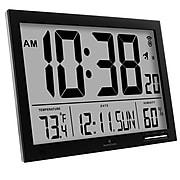 Marathon Slim Digital Wall Clock, Black (CL030062BK)