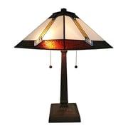 "Amora Lighting Tiffany Style 2 Bulb Table Lamp, 21""H x 14""W (AM223TL14)"